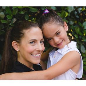 CC Sport Mother & Daughter Silver Golf Ball Earrings Set