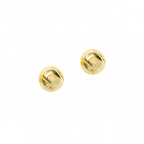 CC Sport Gold Tennis Ball Earrings