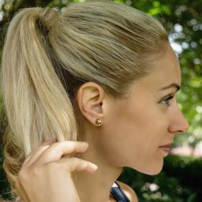 CC Sport Rose Gold Tennis Ball Earrings