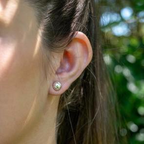 CC Sport Silver Tennis Ball Earrings