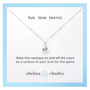 CC Sport Silver Tennis Charm Necklace